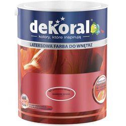 Farba Lateksowa Akrylit W Kolor Dynamiczna Czerwień 5l Dekoral