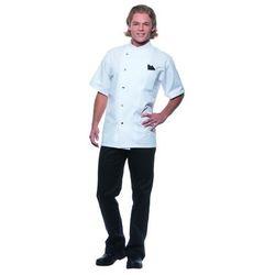 Bluza kucharska męska, rozmiar 46, biała | KARLOWSKY, Gustav