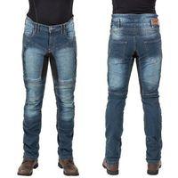 Spodnie motocyklowe męskie, Męskie jeansowe spodnie motocyklowe W-TEC Wicho, Niebieski, M