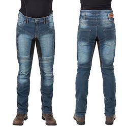 Męskie jeansowe spodnie motocyklowe W-TEC Wicho, Niebieski, L