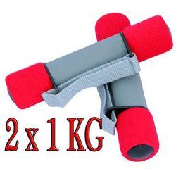 Hantle miękkie z uchwytem hantelki 2x1kg CIĘŻARKI