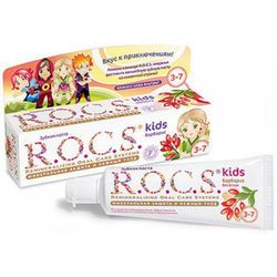 ROCS KIDS Barberry - Pasta dla dzieci w wieku 3-7 lat, BEZ FLUORU 35ml