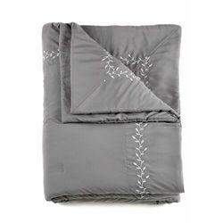 Narzuta na łóżko z haftem bonprix szary