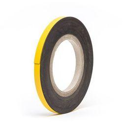 Magnetyczna tablica magazynowa, żółte, rolka, wys. 10 mm, dł. rolki 10 m. Zapewn