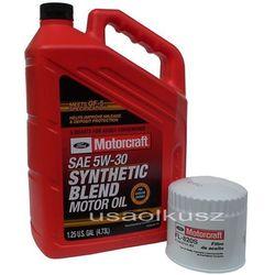Oryginalny filtr oraz syntetyczny olej silnikowy Motorcraft 5W30 Ford Explorer 4,0 2001-