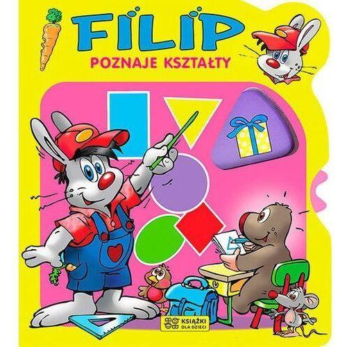 Książki dla dzieci, Filip poznaje kształty - Praca zbiorowa (opr. kartonowa)