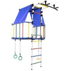 MAŁPISZON Drabinka gimnastyczna z domkiem Indigo Moduł niebieska
