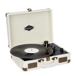 Auna Nostalgy by auna Peggy Sue Gramofon retro LP USB AUX kremowy mosiężny