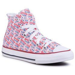 Trampki CONVERSE - Ctas Hi 667089C White/University Red/Rush Blue