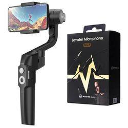 Stabilizator do smartphona Moza Mini-S Essential + Mikrofon Lavalier MIRFAK MC1 - MS01- Zamów do 16:00, wysyłka kurierem tego samego dnia!
