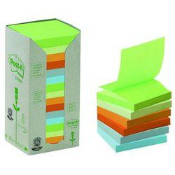 Bloczek ekologiczne POST-IT® Z-notes (R330 - 1RPT), 76x76mm, 16x100 kart., pastelowy