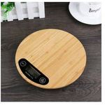 Waga elektroniczna kuchenna 5kg Naturalny Bambus