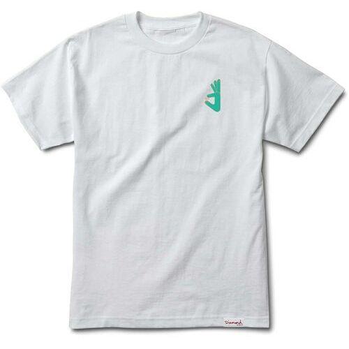 T-shirty męskie, koszulka DIAMOND - Hand Tee - Skatecore White (WHT)