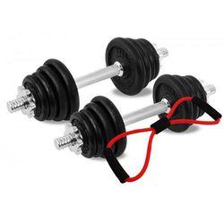 Hantle żeliwne zestaw 2x10 kg Tytan Sport 20 kg + ekspander