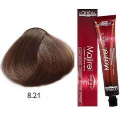 Loreal Majirel | Trwała farba do włosów: kolor 8.21 jasny opalizujący popielaty blond 50ml