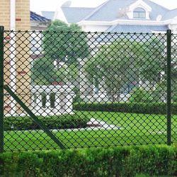 vidaXL Siatka ogrodzeniowa 1,5x25m zielona ze słupkami i osprzętem Darmowa wysyłka i zwroty