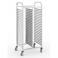 Wózek ze stali nierdzewnej na pojemniki gastronomiczne, 2 x 15 poziomów, GN 1/1, 1700x740x550 mm