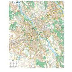 Warszawa mapa ścienna laminowana. Darmowy odbiór w niemal 100 księgarniach!