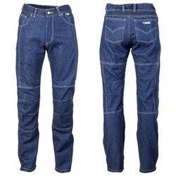 Męskie jeansy motocyklowe z kevlarem W-TEC NF-2930, Niebieski, 4XL