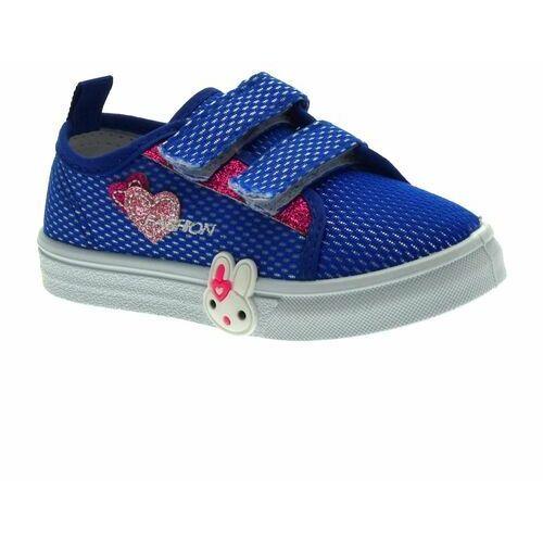 Buty sportowe dla dzieci, Trampki dla dziewczynki Axim 20321 Granatowe