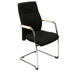Krzesło konferencyjne Orlando wood steel cfp chrome Nowy Styl