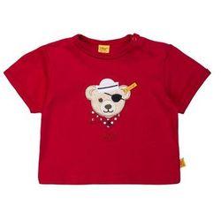 Steiff Collection 1/4 ARM NEWBORN BOY LITTLE PIRAT BABY Tshirt z nadrukiem tango red