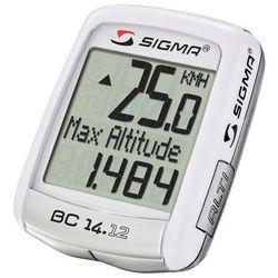 04150 Licznik rowerowy SIGMA BC 14.12 ALTI przewodowy, PL MENU, wysokościomierz