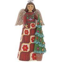 Ozdoby świąteczne, Anioł i choinka Folklore Angel with Tree 6001448 Jim Shore figurka ozdoba świąteczna