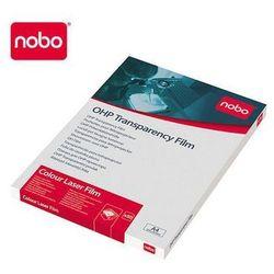 NOBO Folia OHP do drukarek laserowych jednostronnie powlekana, 50 sztuk