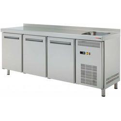 Stół chłodniczy trzydrzwiowy ze zlewem | 0°C/+8°C | 452L | 1800x700x(H)850mm