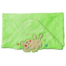 Okrycie kąpielowe z kapturem 76x76 cm BabyOno, zielone z króliczkiem - zielony / króliczek