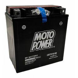 Akumulator motocyklowy Moto Power CBTX16-BS YTX16-BS 12V 14Ah 230A EN L+
