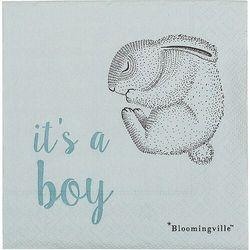 Serwetki papierowe bloomingville mini it's a boy z królikiem 20 szt.