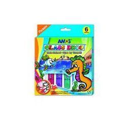 Farby witrażowe Glass Deco 6 kolorów blister AMOS
