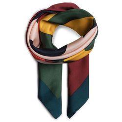 Apaszka TORY BURCH - Color Block Logo Silk Neckerchief 56903 Equesstrian Green 377