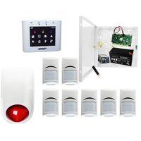 Sygnalizatory, System alarmowy do szkoły Ropam OptimaGSM-PS + 7xBosch+ TPR-2W-O + Sygnalizator