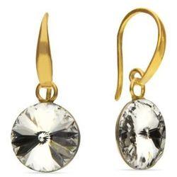 Kolczyki srebrne Candy Gold z kryształami Swarovski