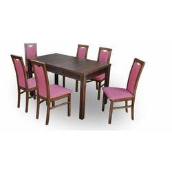 """Zestaw """"DIVA"""" stół + 6 krzeseł - czerwony"""
