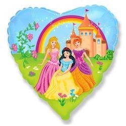 Balon foliowy serce Princess - 46 cm - 1 szt.