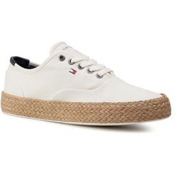 Sneakersy TOMMY HILFIGER - Core Oxford Twill Jute Sneaker FM0FM02883 Ivory YBI