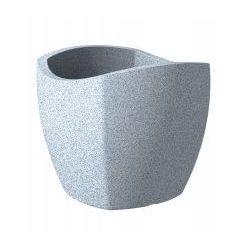 Donica Scheurich Wave Globe Cubo 40 biały granit