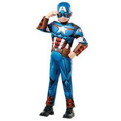 Kostium Kapitan Ameryka Deluxe dla chłopca - Roz. M Amerykańska (-20%)