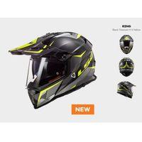 Kaski motocyklowe, KASK MOTOCYKLOWY ENDURO KASK LS2 MX436 PIONEER RING TITAN HV YELLOW