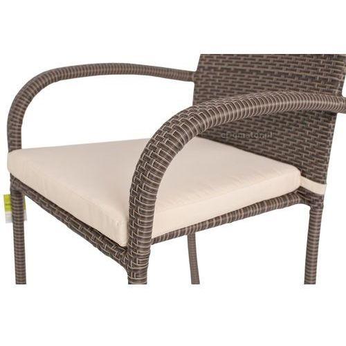Krzesła ogrodowe, Krzesło ogrodowe z technorattanu MALAGA - brązowe - brązowy Krzesło Malaga (-11%)