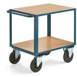 Wózek warsztatowy SEDAN, bez hamulców, 2 koła skrętne, 600 kg, 800x600 mm