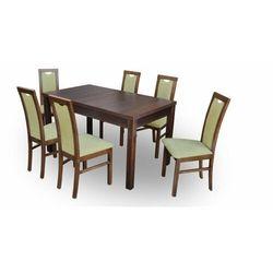 """Zestaw """"DIVA"""" stół + 6 krzeseł - oliwkowy"""