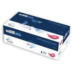 Rękawice nitrylowe mediCARE nitrile, niebieskie, bezpudrowe, 100 szt.