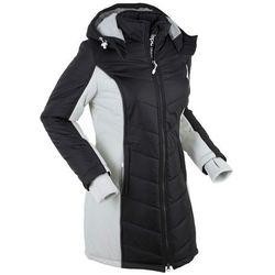 Płaszcz funkcyjny pikowany bonprix czarno-srebrny