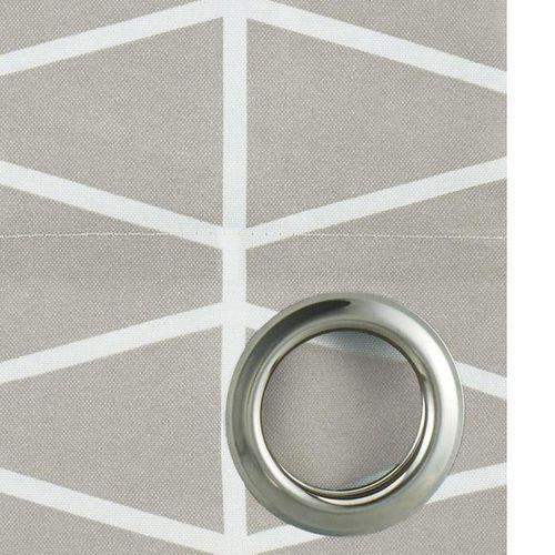 Zasłony, Zasłona HENLEY jasnoszara 140 x 250 cm na przelotkach