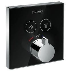 Hansgrohe bateria termostatyczna do 2 odbiorników, montaż podtynkowy, element zewnętrzny ShowerSelect Glass 5738600